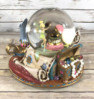 Disney Tinkerbell Peter Pan Snow Globe You Can Fly! Music Musical Neverland Map