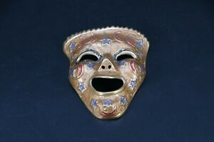 Small Wall hanging Tibetan or Nepalese old bronze Ceremonial mask