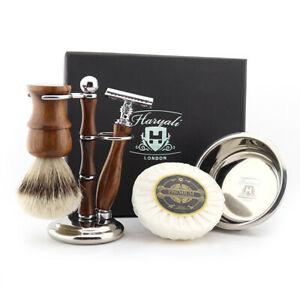 Perfect Shaving Gift Set Wooden Handle Smooth Shave Equipment for Barber Salon