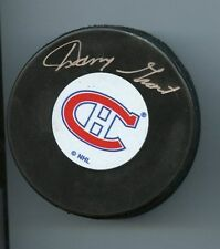 DANNY GRANT SIGNED MONTREAL CANADIENS HABS HOCKEY PUCK w/ COA