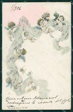 Art Nouveau Angel OPF postcard ABRASA MACCHIA ABRADED STAIN cartolina QT5824