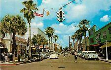Florida, FL, Fort Pierce, Business Section View 1964 Chrome Postcard