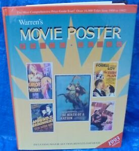 Jon R. Warren Movie Poster Price Guide Book 1993 Mummy King Kong Thin Man Hound