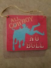 Resin Ornament All Cowboy No Bull Resin Cowboy Plaque Midwest CBK