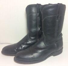 LAREDO Cowboy Mens Boots 28-7902 Saddle Roper Black Leather Size 8 EW  Pull On