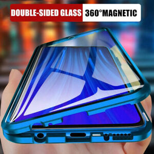 360° FRONT + BACK GLASS Magnetic Case For Samsung S21 Ultra S20 A72 A52 A32 A51