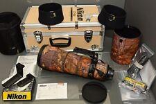 nikon af-s 500 f4G ED VR, mid 2013 (2069..), 99,9% mint, trunk, manual, papers