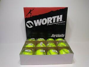 "Worth Protac Super Gold Dot C-Lok Compression Cor 44 YS44NS4 12"" Softballs Dozen"
