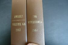 JEHOVAH'S WITNESSES : 1987 Watchtower & Awake Bound Volumes