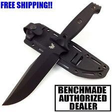BENCHMADE SIBERT ARVENSIS FIXED BLADE G10 BLACK 154CM PLAIN EDGE KNIFE 119BK