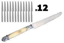 Couteaux  à dessert manche en corne Art Nouveau