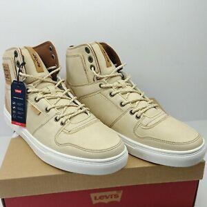 Levi 501 Shoes Mason Hi Lux Khaki/Tan Mens Size 10 Casual Sneaker