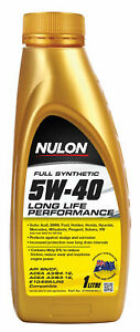 Nulon Full Synthetic Long Life Engine Oil 5W-40 1L SYN5W40-1 fits Toyota Dyna...