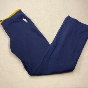 Pantalón De Chándal Para  Mujer Ralph Lauren Con Forro Polar Talla Pequeña Azul