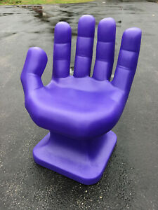 """GIANT Lavender Purple left HAND SHAPED CHAIR 32"""" 70's Retro EAMES iCarly NEW"""