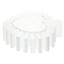 Beauticom 210pcs Heart Shaped Clear False Nail Tips Palette Practice Display