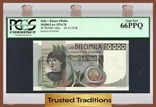 TT PK 106a 1976-78 ITALY BANCA D'ITALIA 10000 LIRE PCGS 66 PPQ GEM NEW