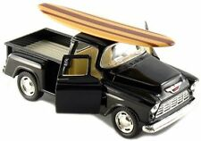Kinsmart 1955 Chevy Stepside 3100 Pick Up Truck 1:32 diecast w/ Surfboard Black