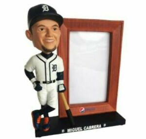 2019 Miguel Cabrera Picture Frame Bobblehead Detroit Tigers SGA