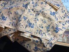MAKOWER British Heritage Collection  natural/blue/pink floral quilting remnants