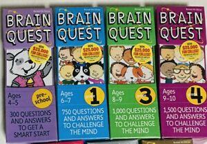 4 Brain Quest card packages - Preschool plus Grade 1, 3, 4 Brand New GIFT