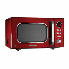 Morphy Richards Microwave Accents Colour Collection 511512 23l Digital Solo Red