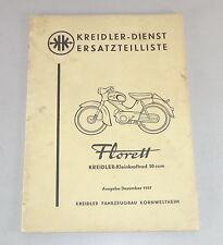 Teilekatalog / Ersatzteilliste Kreidler-Kleinkraftrad Florett 50 ccm Stand 1957