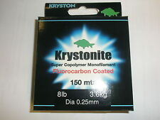 Kryston Krystonite Flourocarbon Coated Monofilament 8lb 0.25mm 150m Fishing