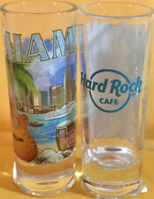 "Hard Rock Cafe MIAMI FL 2017 City Tee T-Shirt 4"" SHOT GLASS Cordial V17 Barware"