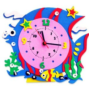 CHILDRENS _ ART _ CLOCK _ FISH -- (GREAT_CHRISTMAS_GIFT)