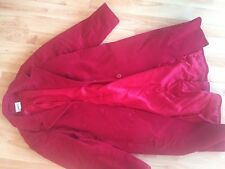 LL Bean RED Excellent Used Condition Wool Winter Coat L XL