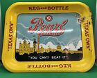 PEARL LAGER BEER Serving Tray / Keg & Bottle / Vintage Texas Own Bar Advertising