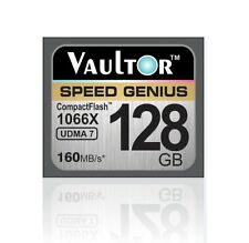NUOVO vaultor 128gb 1066x Professional Compact Flash CF Memory Card - 160mb/s lettura