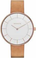 Women's Skagen Brown Leather Strap Watch SKW2558