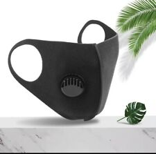 Reusable Black Face Mask Virus Protection Washable Protective Covering Full Face