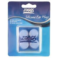 Zoggs Clear Silicone Ear Plugs Adult - Hypo-allergenic Earplugs for Swimming