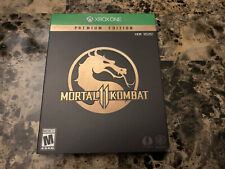 Mortal Kombat 11 Xbox One Premium Edition - STEELBOOK & SLIPCOVER ONLY NO GAME