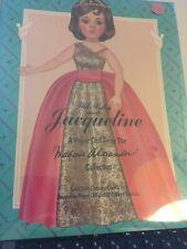 Madame Alexamder Paper Dolls/Jacqueline