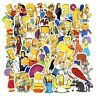 50pcs/Lot Anime Sticker Vinyl Cartoon Simpsons Stickers Laptop Sticker Decal