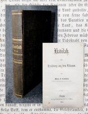 1861 havilah una narración de líbano María Cummins primera edición alemana