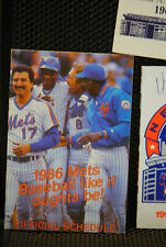LOT OF 6 METS POCKET SCHEDULES VG/E 1985 1986 1988 1990 1993 1998 FREE SHIPPING