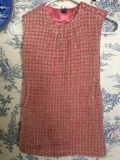 Gap Size 5 Portobello, Pink Gold Plaid Jumper Dress, Boucle Easter Holiday Party
