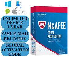 McAfee Total Protection illimitée Device 1 année mondiale de clé 2018 e-mail Uniquement pas de CD