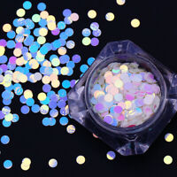1.5g/Box Nail Glitter Sequins Colorful Round Nail Art Decoration Design 3mm