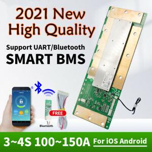 Smart BMS 4S 12V Lifepo4 Li-ion Battery Protection Board 150A Bluetooth w/UART
