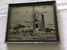 TIN MINE CORNWALL STAINLESS STEEL PLAQUE by MANUSCRIPT of  LISKEARD
