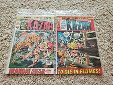 ASTONISHING TALES #9 10 Run/Set/Lot Matvel Comics 1971 Lord of the Jungle KA-ZAR