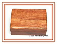"PLAIN Wooden Carved Tarot Box Wicca Pagan 4 X 6"" inchs FREE SHIPPING Jewerly box"