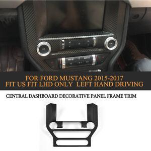 Carbon Fiber Central Dashboard Zierblende Rahmen Trim für Ford Mustang 2015-2018