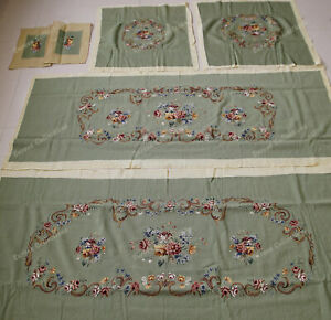 Light Green 17th Century Neo-classical Reproduction Floral Sofa Chair Cover Sets